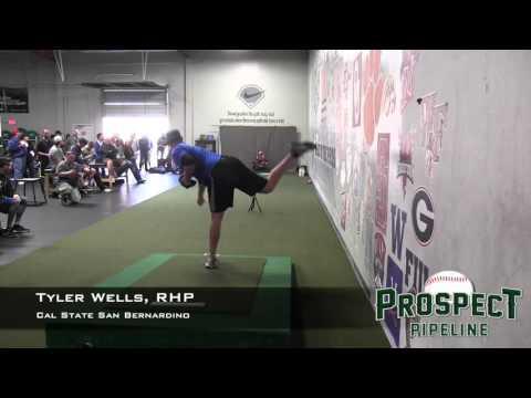 Tyler Wells Prospect Video, RHP, Cal State San Bernardino