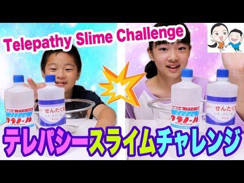 【母ポンコツ】姉弟テレパシースライムチャレンジ✨Twin Telepathy Slime Challenge【ベイビーチャンネル 】