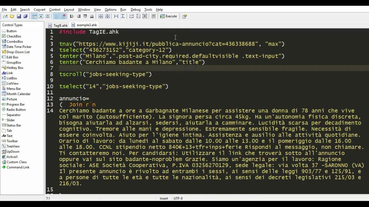 TagIE example: Easy Internet Explorer Automation with AutoHotKey
