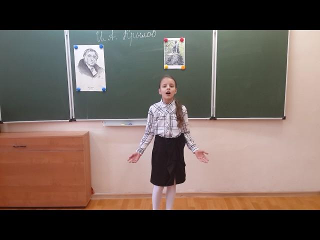 Изображение предпросмотра прочтения – СофьяБыкова читает произведение «Ворона и Лисица» И.А.Крылова