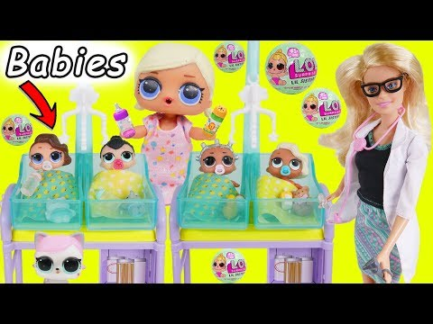 L.O.L. Surprise! Dolls New Baby Babysit Wrong Clothes Rescue House Lil Sisters Transform Unboxed!