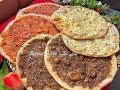 مناقيش البصل والبندورة والجبنة والزعتروصفة اقتصادية  وغير شكل جربوها