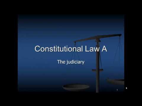 Judiciary Constitutional Law South Africa