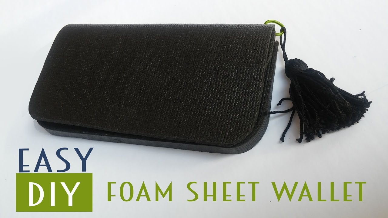 Easy DIY Foam Sheet Wallet (No Sewing Required)