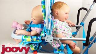 Blue and Pink Joovy Stroller Toy Caboose Unboxing and Details!
