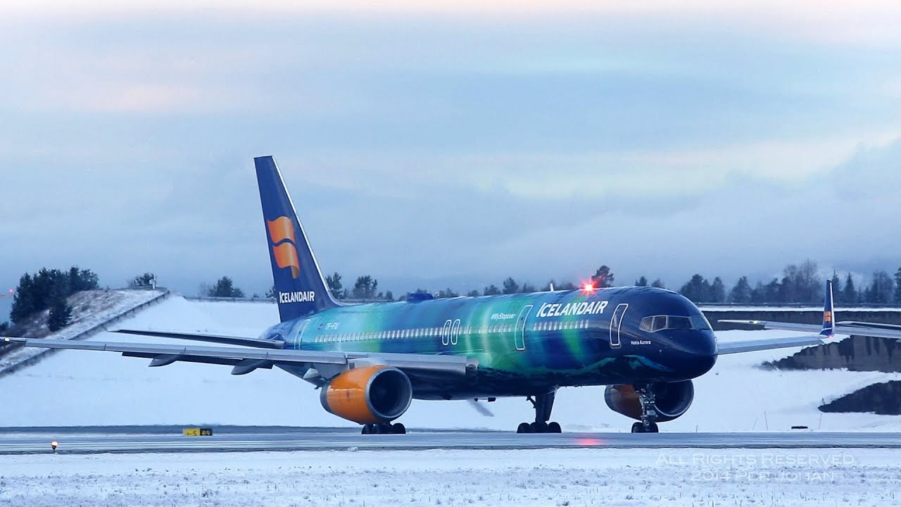 Icelandair TF-FIU Boeing 757-256(WL) Hekla Aurora at OSL ...  Icelandair TF-F...