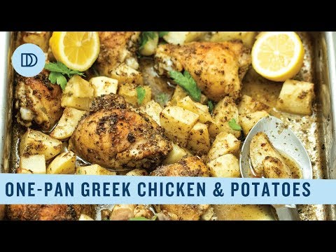 One-Pan Lemony Chicken & Potatoes: Classic Greek Food