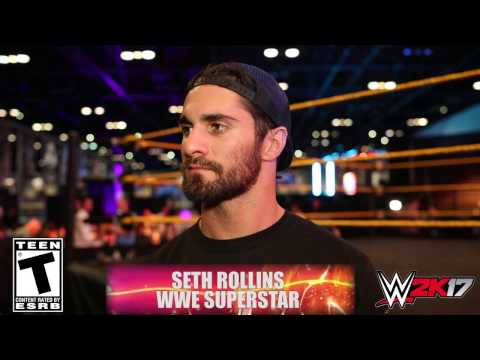 WWE 2K17 - WrestleMania interview with Seth Rollins