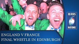 Final Whistle Reactions in Edinburgh