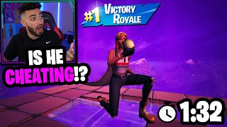 I hosted the fastest fortnite custom game ever... (did he cheat?)