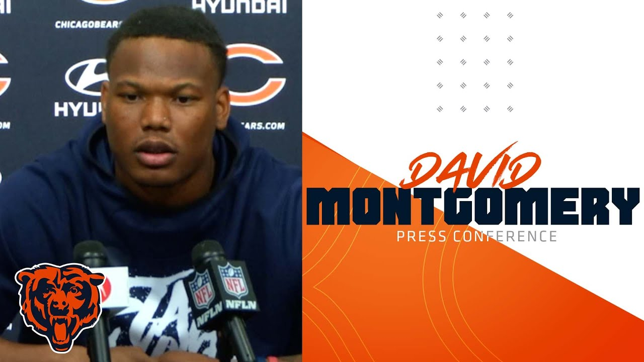 Chicago Bears running back David Montgomery helped off with ...
