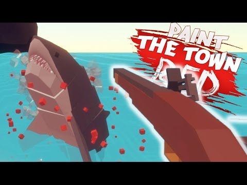 SHOOTING A SHARK!   Paint The Town Red (Pirate Daytime Cove Update)