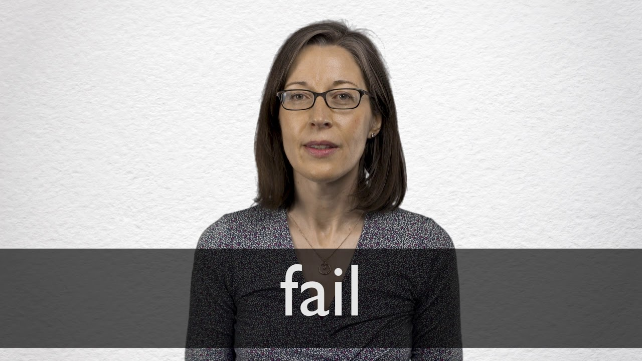 Fail Synonyms | Collins English Thesaurus