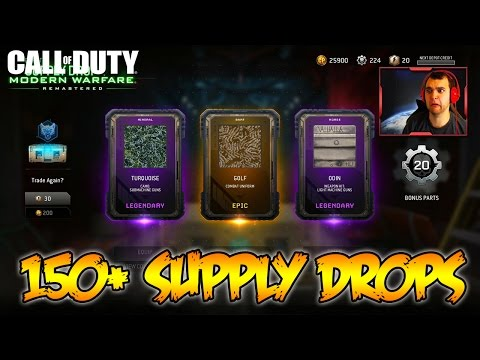 150+ SUPPLY DROP OPENING! - MODERN WARFARE REMASTERED SUPPLY DROP GAMEPLAY! (MWR Gameplay)