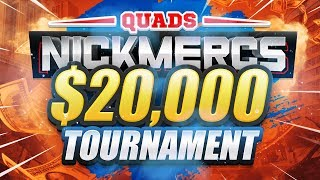 🔴 $20,000 WARZONE TOURNAMENT (NICKMERCS MFAM QUADS GAUNTLET)