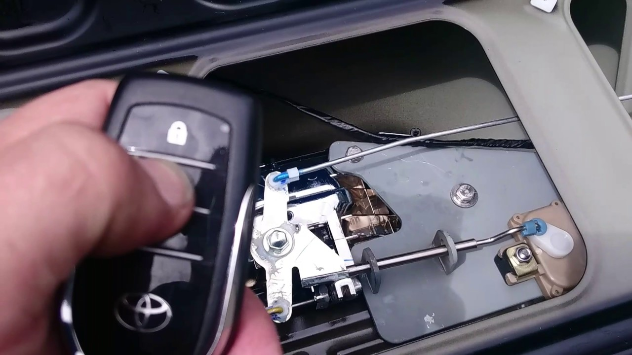 And Gate Wiring Diagram Toyota Hilux Tailgate Lock Youtube