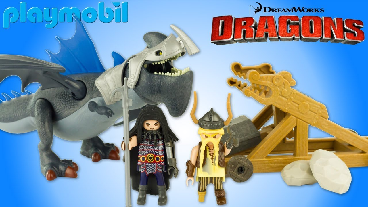 playmobil how to train your dragon gobber catapult drago thunderclaw toy review 2017 christmas gift - How To Train Your Dragon Christmas