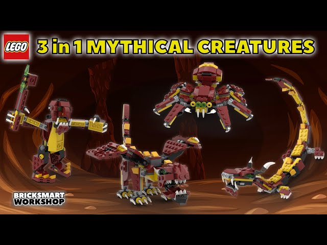 LEGO 31073 Creator 3 in 1 Mythical Creatures + Alternate Model Digital Speed Build