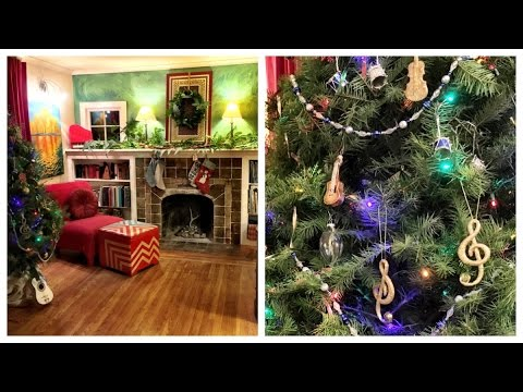 Decorate with me! Musical instrument themed Christmas tree + Dollar Store ornaments