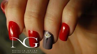 Весенний маникюр: тюльпан на ногтях. Акриловая лепка / Spring Flower Nail Art