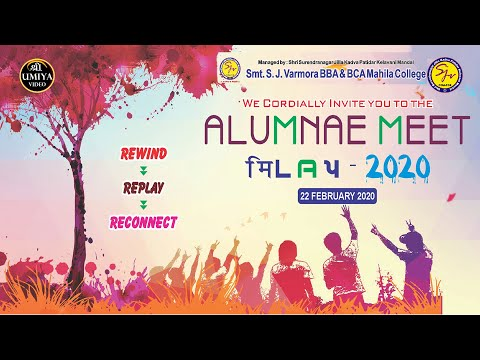Alumnae Meet || Milap 2020 || Varmora Mahila College ||
