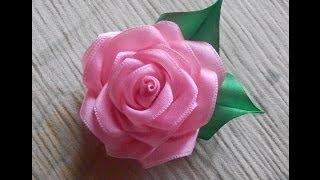 Цветы из ткани. Как сделать розу из атласной ленты.DIY Rose(В этом видео я хочу показать как легко и красиво можно сделать розу. Для создания такого цветка нам надо..., 2014-05-11T05:05:45.000Z)