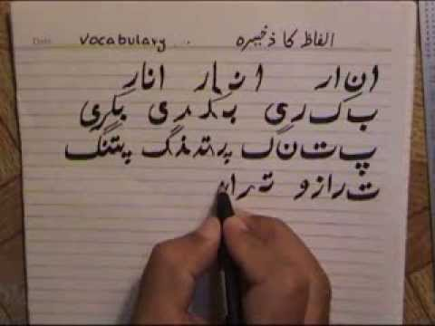 Lesson7 Urdu Alphabets And Vocabulary Part1  YouTube