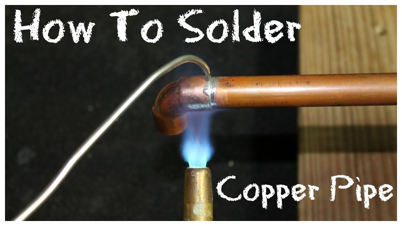 How To Solder Copper Pipe Diy How To Basics Youtube