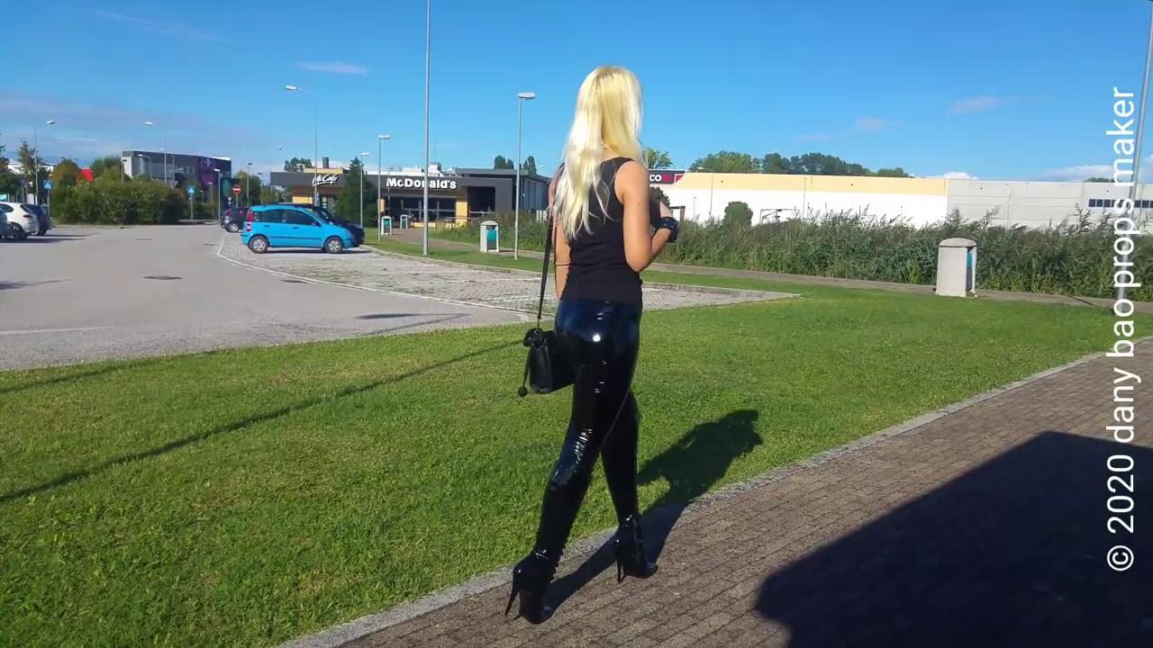 DANA LABO -Try Pleaser boots model Devious 6 inc high heels 15 cm and shiny leggings