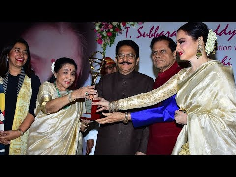 Asha Bhosle Honoured With 5th Yash Chopra Memorial Award 2018