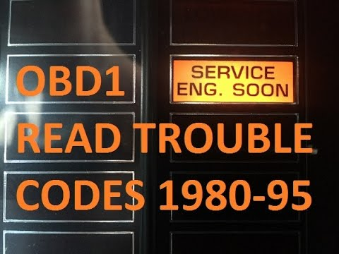 How To Read Check Engine Light Trouble Codes OBD1 1980 ...