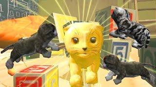 СИМУЛЯТОР КОТА 🐱🐱🐱 #20 ЗОЛОТОЙ КОТ и КОТЯТА мульт-игра про котят развлекательное видео