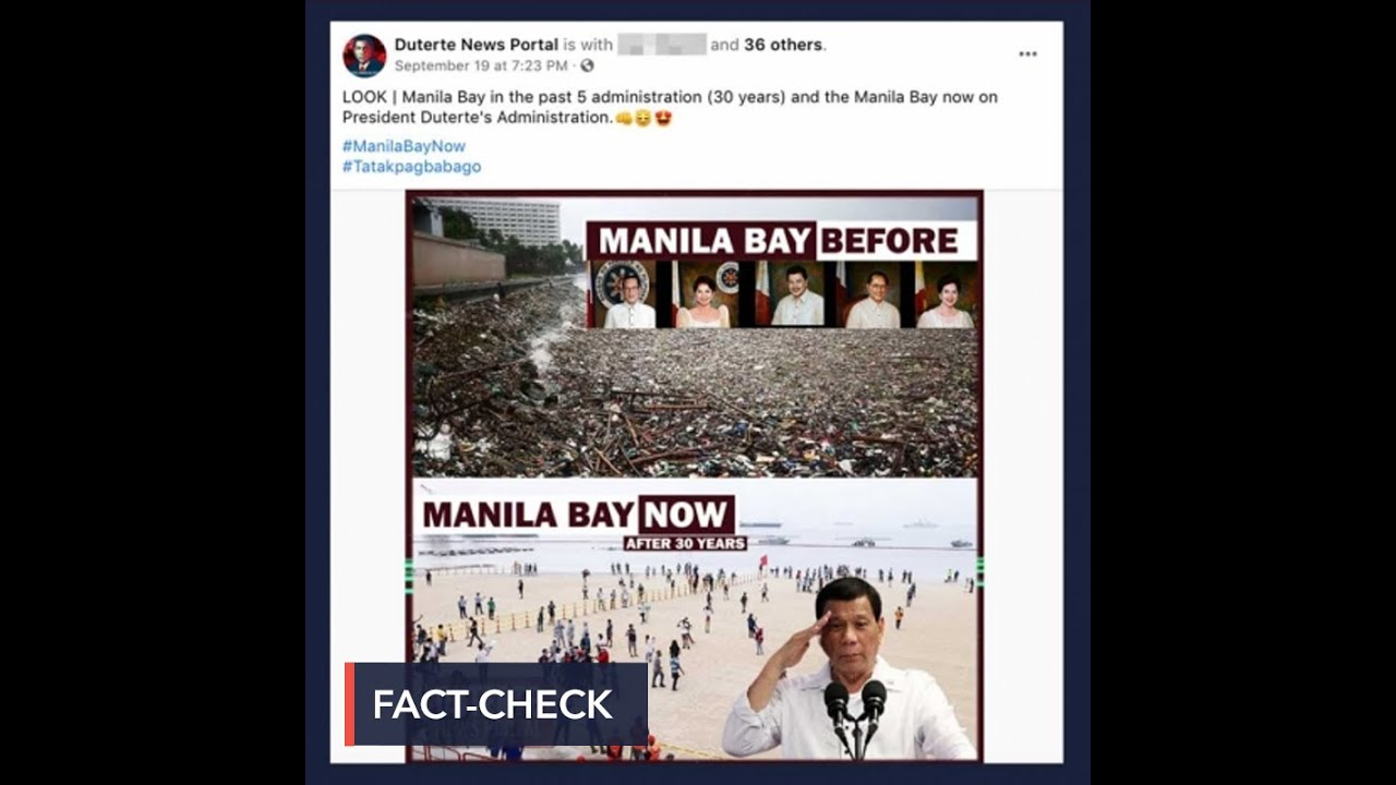 Download FALSE: Photo of Manila Bay in past 5 administrations