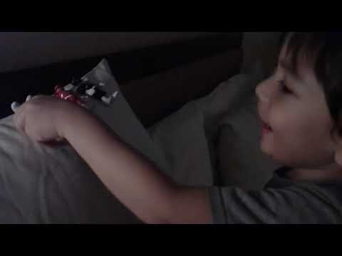 Jacob playing Power Rangers