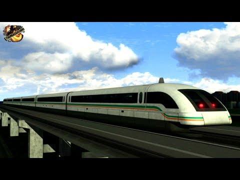 Train Simulator The Shanghai MAGLEV 1 Early Morning Train Round Trip - Tren de Levitacion Magnetica