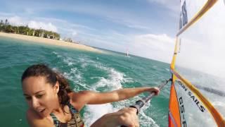 Windsurfing slalom training