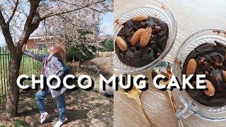 Korean Vlog: Cooking Vegan Choco Mug Cake + Favorite IG Story App   DTV #99