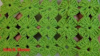 코바늘 네잎클로버 무늬…