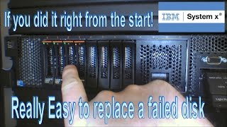 IBM Server - Easy to replace a defective disk - 137