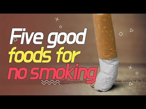 Five good foods for no smoking(금연 시켜주는 음식) [ENG]