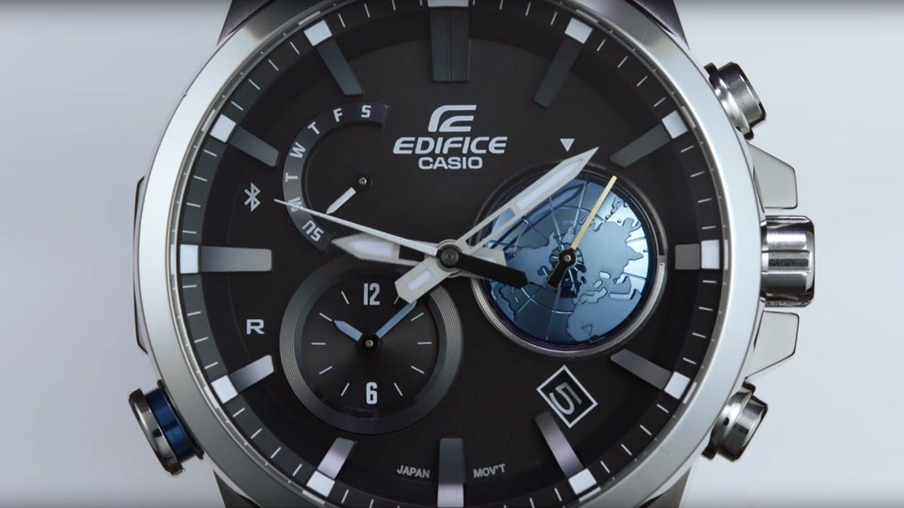 2746d205b623 EDIFICE EQB-600 - 3D Globe Dial - YouTube