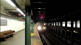 IRT Subway: Flatbush Ave & Manhattan Bound R62A (2) Train at Eastern Pkwy