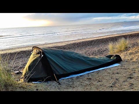 BIVVY BAG WILD CAMP   WALBERSWICK SUFFOLK COAST