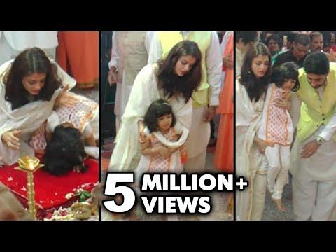 WATCH Aishwarya Rai Saves Aaradhya From Fall During Aarti | Durga Puja 2016