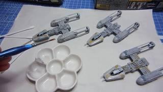 Bandai Y-Wing Vehicle Collection plamo build 4
