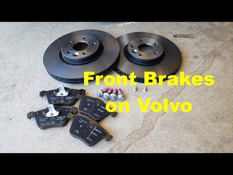 Volvo Front Brake Replacement. And a little more!