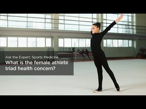 What is the female athlete triad health concern?