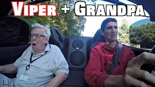 Great Grandpa's Reaction To My Dodge Viper (At 88 Years Old!)