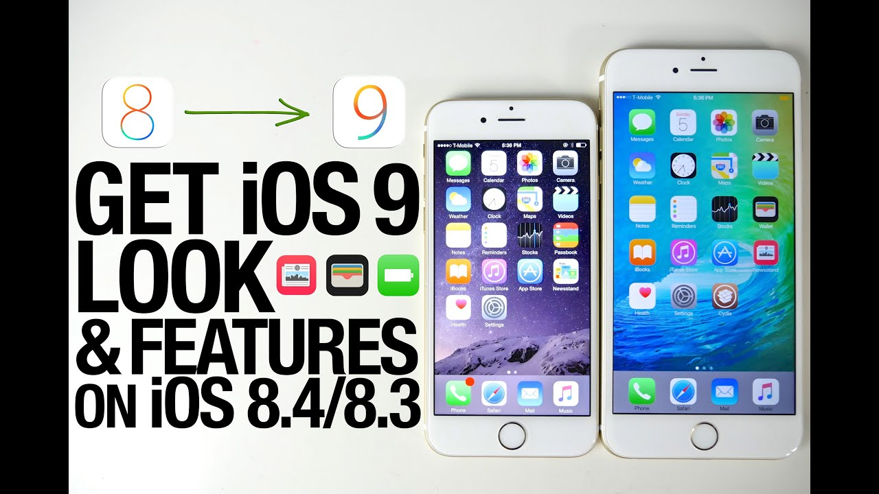 ios 8 on iphone 4 how to get ios 9 features amp look on ios 8 4 doovi 17327