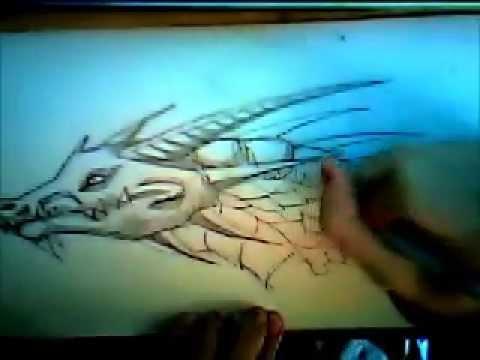 Drachen Zeichnen - YouTube
